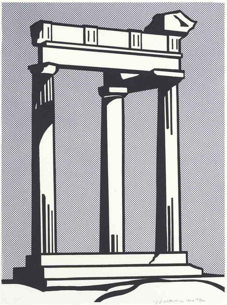 temple by roy lichtenstein guy hepner. Black Bedroom Furniture Sets. Home Design Ideas