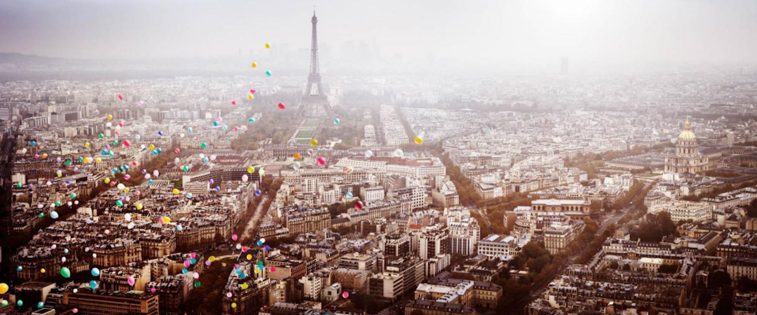 Balloons Over Paris by David Drebin