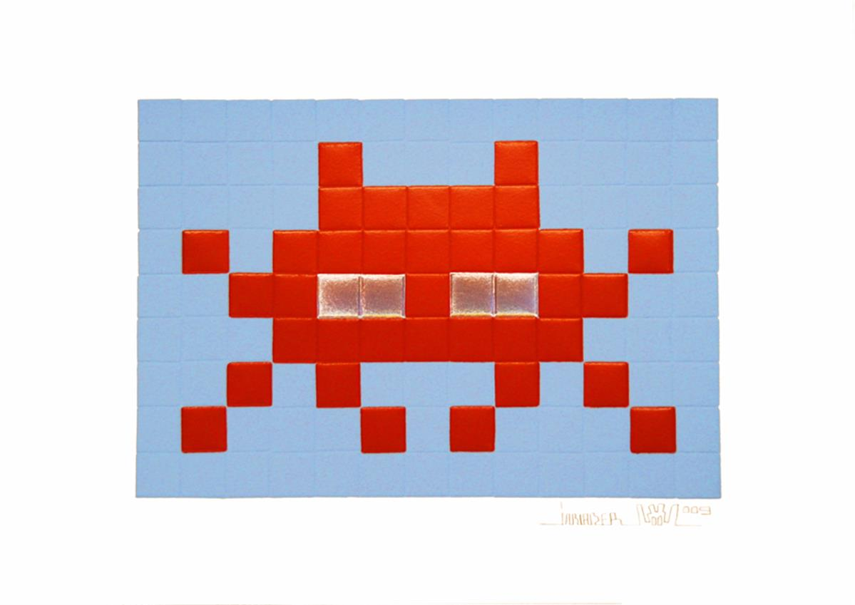 Invasion Red by Invader