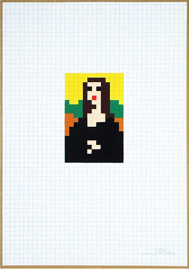 Mona Low Res by Invader