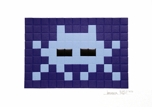 Invasion blue by Invader
