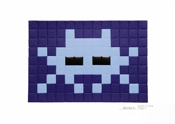 Invasion blue by Invader