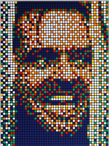 Rubik Kubrik II by Invader