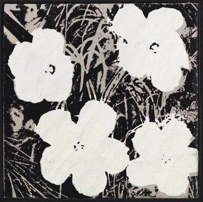 8 inch flower B&W by Andy Warhol