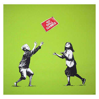 No Ball Games (Green) by Banksy
