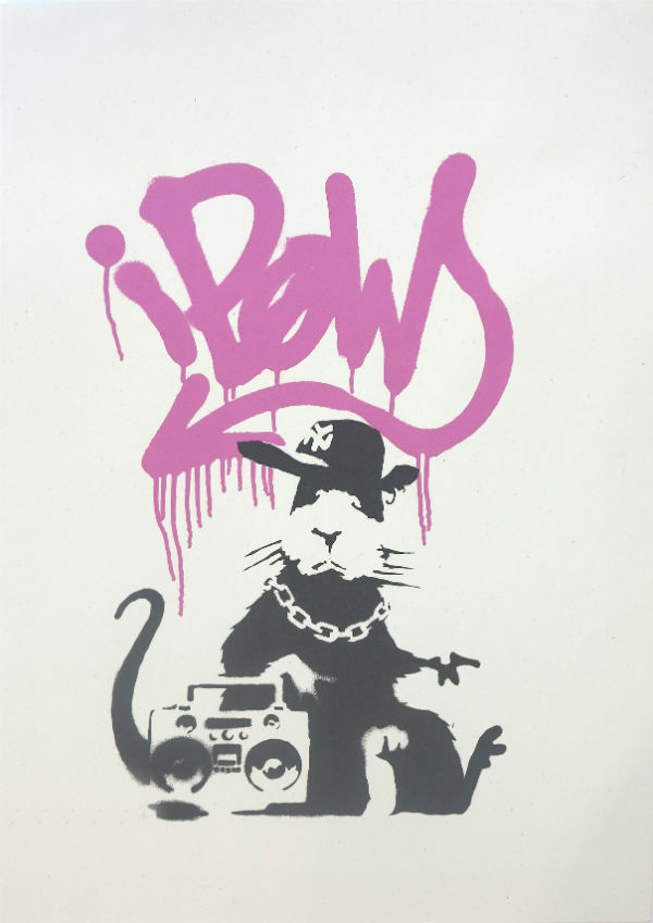 Buy-Banksy-Gangsta-Rat-Pink-Colourway-Edition-Sell-Banksy-Print