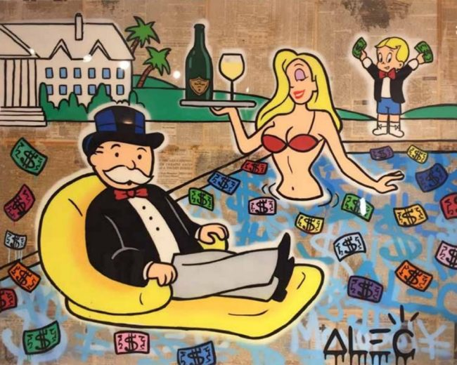 Colorful Money Pool by Alec Monopoly