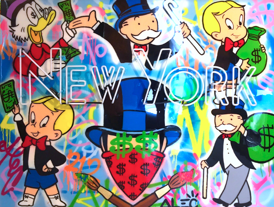 New York Neon Sign by Alec Monopoly
