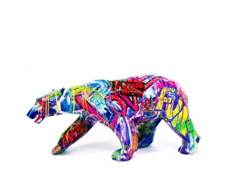 Pop Walking Wild Bear by Richard Orlinski