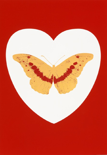 I Love You (White, Coral, Oriental Gold, Cool Gold) by Damien Hirst