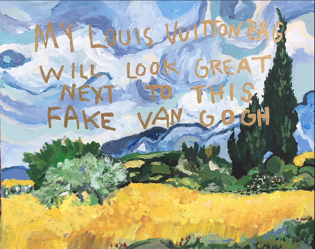My Louis Vuitton Bag Will Look Great Next To This Fake Van Gogh