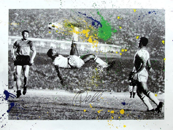 The King Pelé by Mr. Brainwash