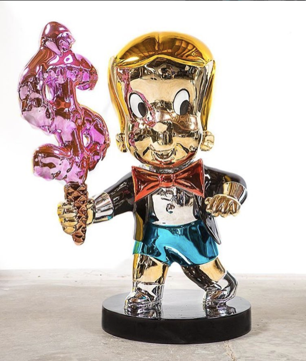 Richie Rich Money Cone by Alec Monopoly