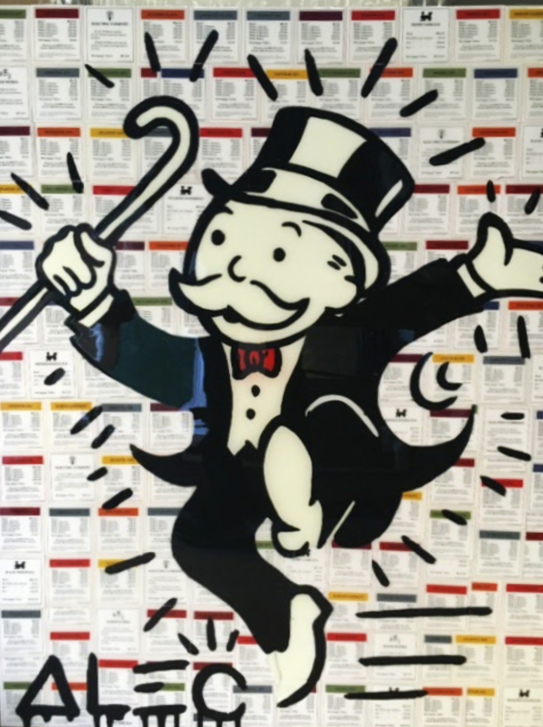 Monopoly Man on Game Cards by Alec Monopoly