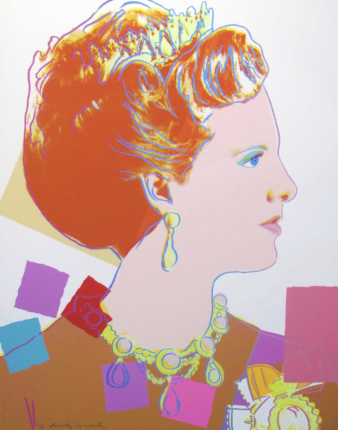 344 Queen Margrethe II by Andy Warhol