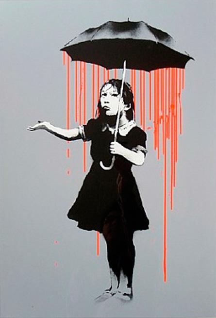 NOLA (Orange) by Banksy