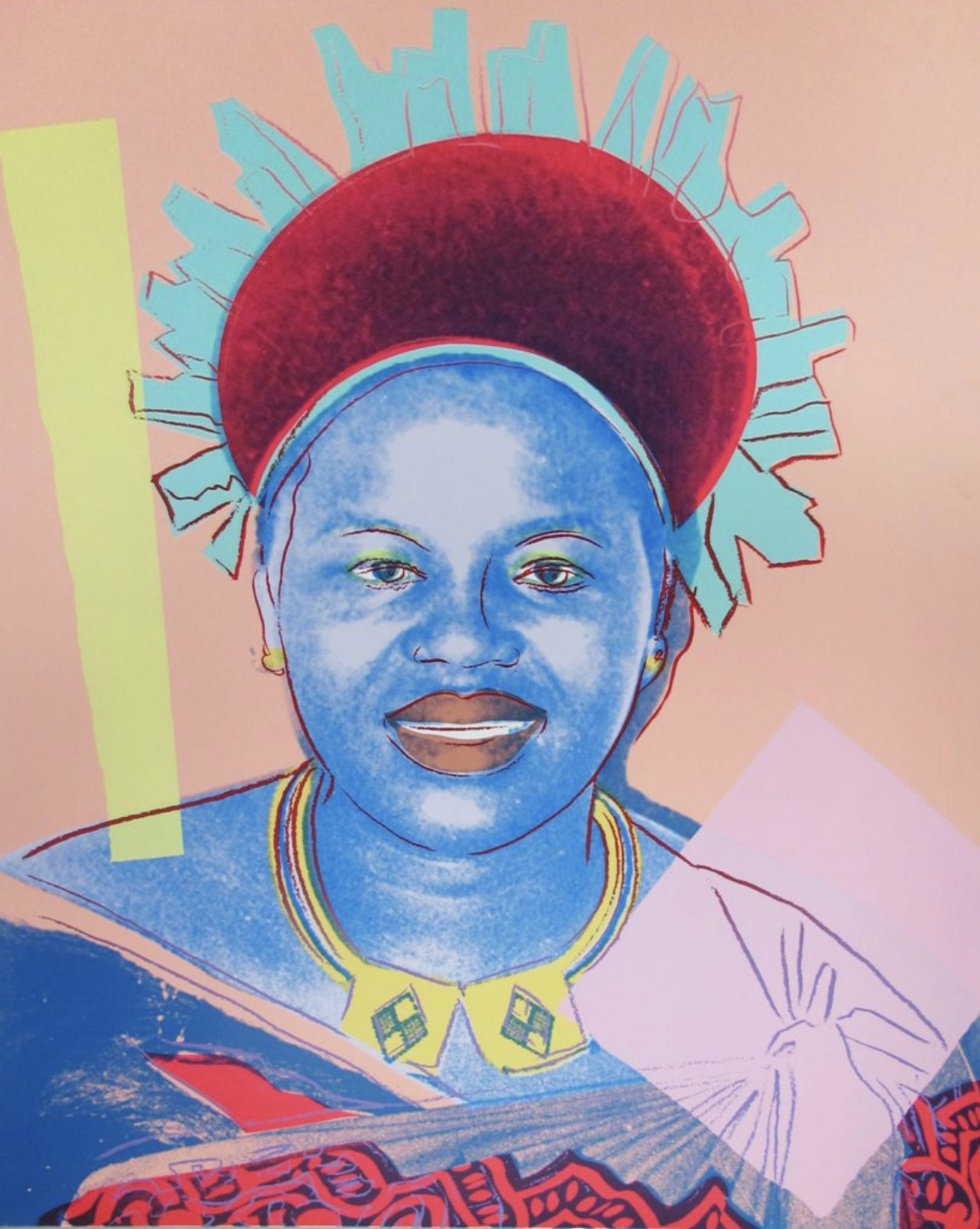 Queen Ntombi Twala of Swaziland by Andy Warhol