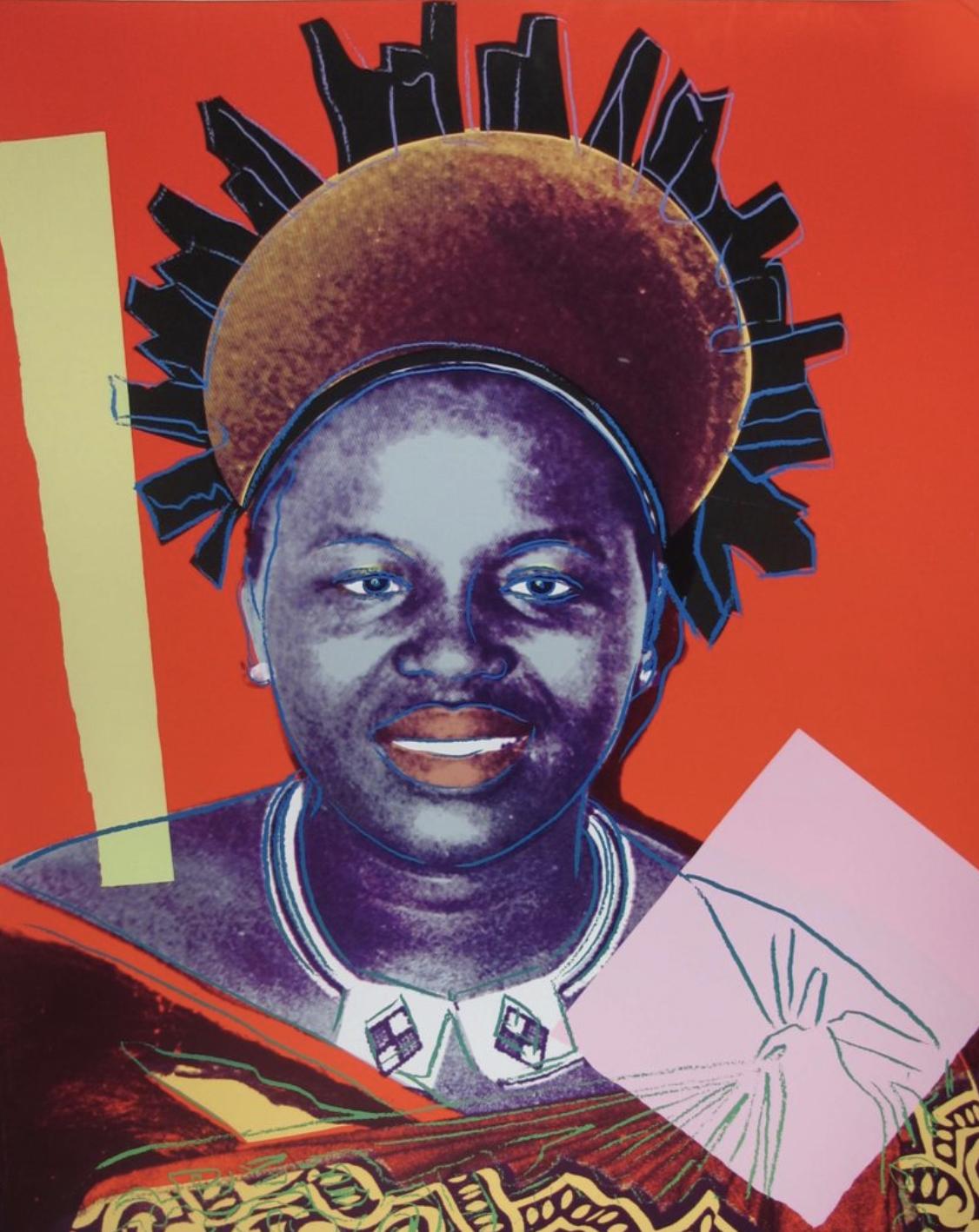 Queen Ntombi Twala of Swaziland by Andy Warhol