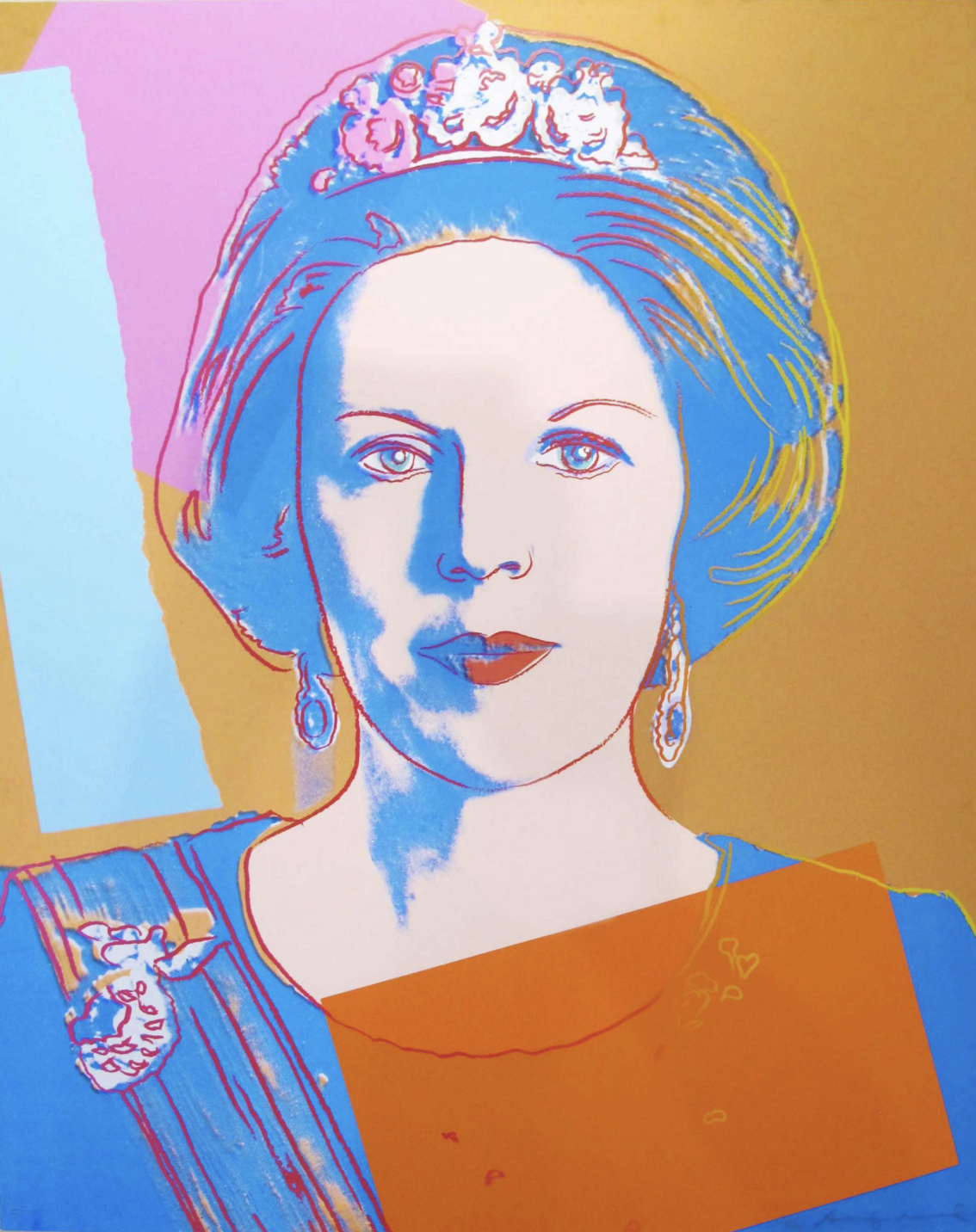 Queen Beatrix Of The Netherlands II.338 by Andy Warhol