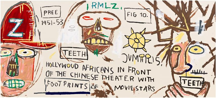 Hollywood Africans in front of the Chinese Theater by Jean- Michel Basquiat