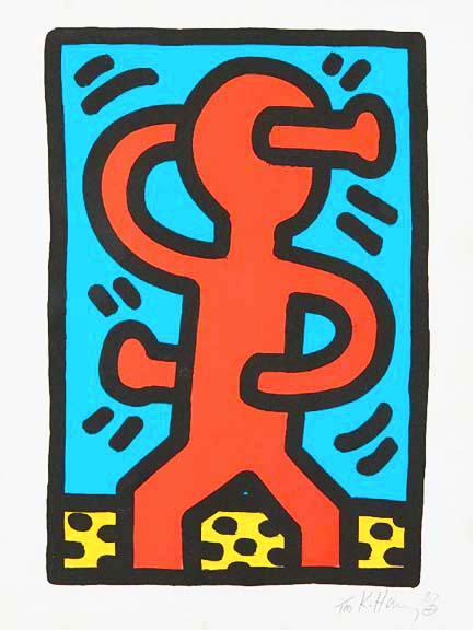 Untitled 1987 by Keith Haring