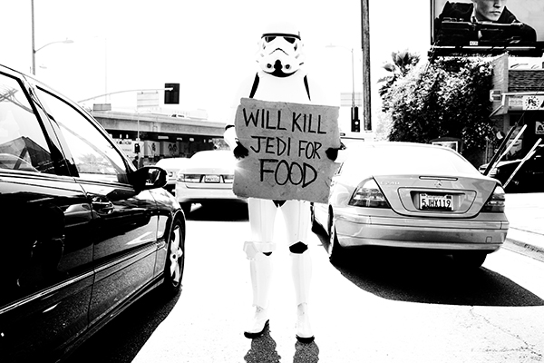 Will Kill Jedi For Food by Tyler Shields