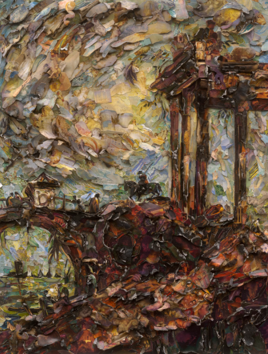 Landscape with Ruins, after Francesco Guardi (Afterglow) vik muniz