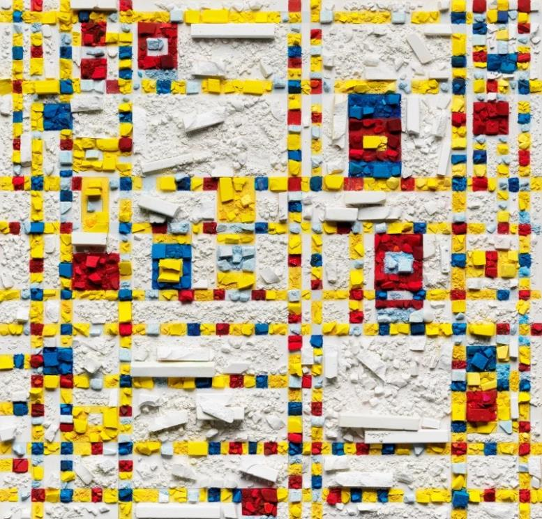 Metachrome (Broadway Boogie Woogie, after Piet Mondrian) by Vik Muniz