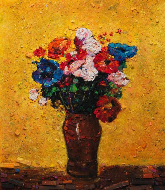 Metachrome (Flowers, after Odilon Redon I) by Vik Muniz
