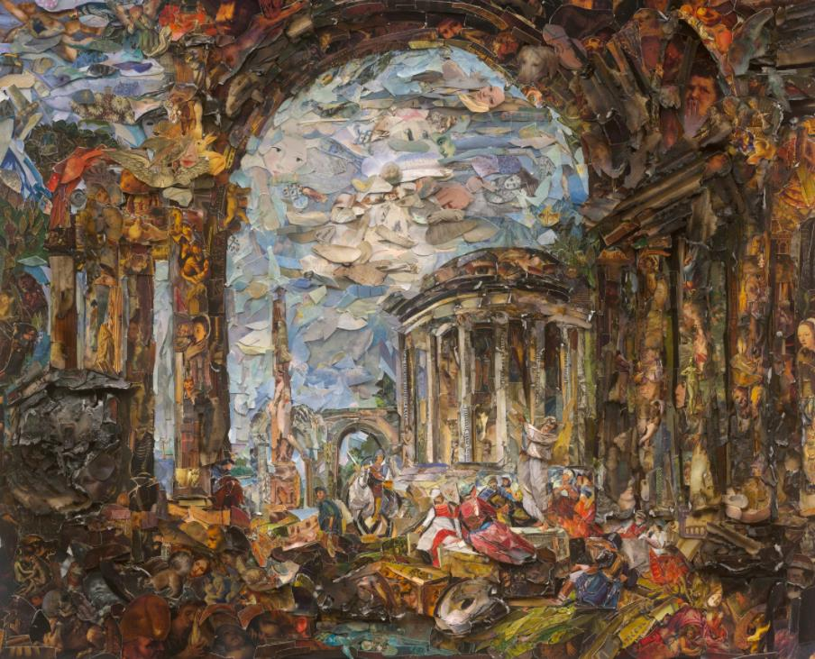 Preaching among the Ancient Ruins, after Giovanni Paolo Panini (Afterglow) by Vik Muniz