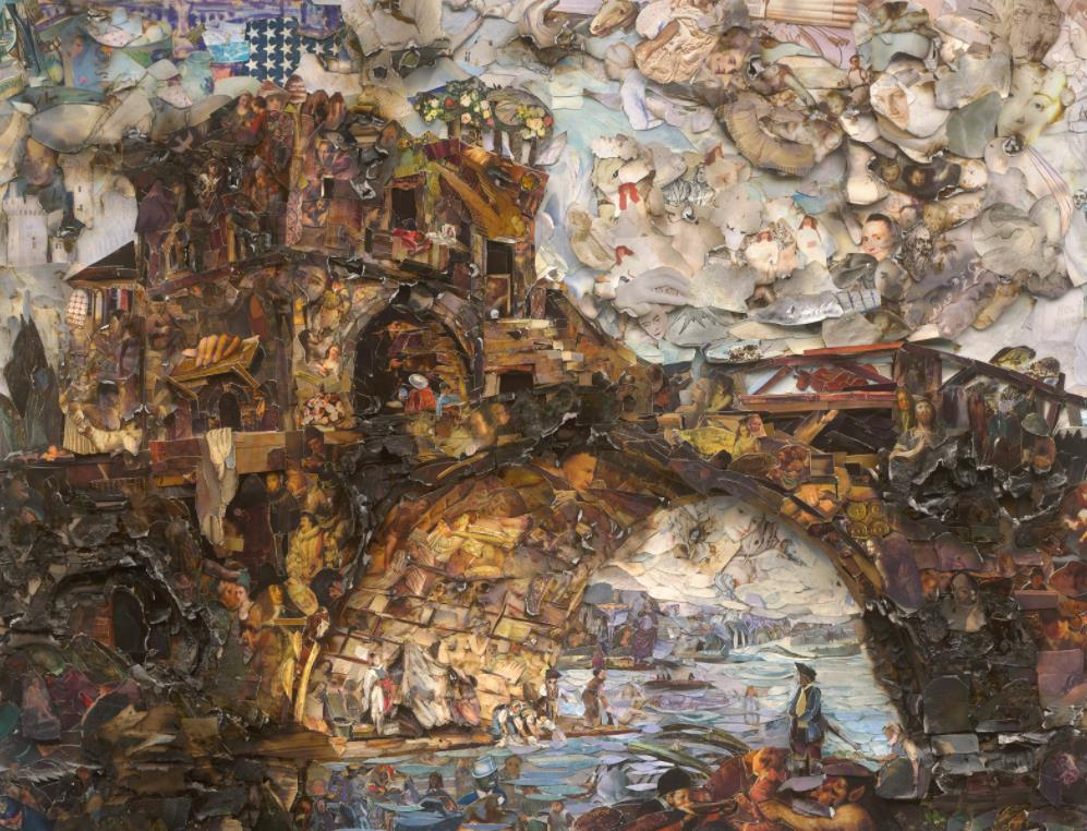 The Ponte Salario, after Hubert Robert (Afterglow) by Vik Muniz