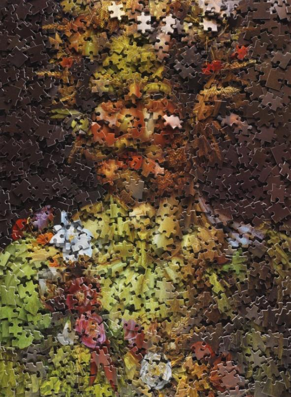 Vertumnus (Portrait of Rudolf II), after Arcimboldo (Gordian Puzzles) by Vik Muniz