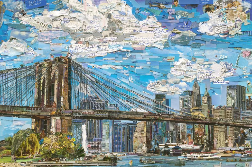 Brooklyn Bridge (Postcards from Nowhere) by Vik Muniz
