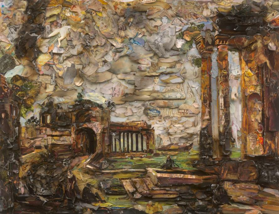 Fantasy Landscape with Ruins and Figures, after Canaletto (Afterglow) by Vik Muniz