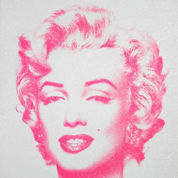 Diamond Girl (Pink on White),