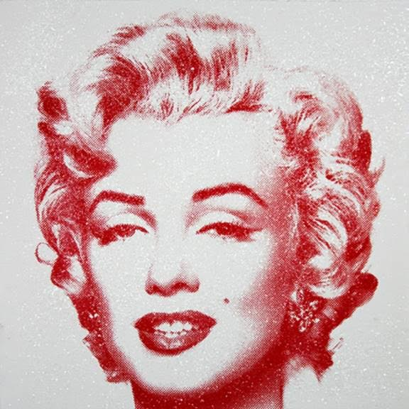Diamond Girl (Red on White) by Mr.Brainwash