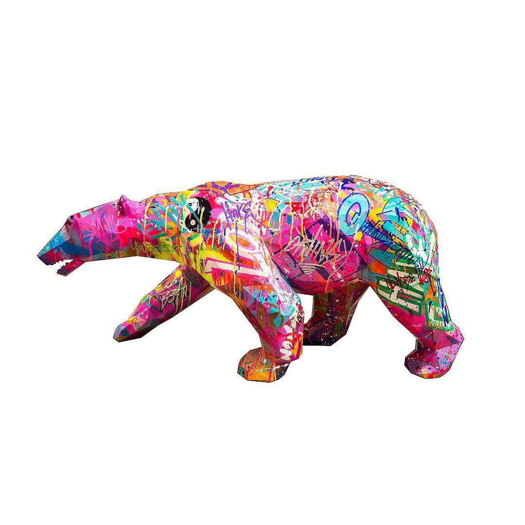 Walking Wild Bear by Richard Orlinski