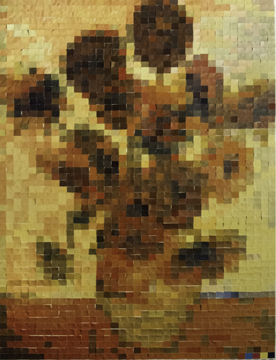 Sunflowers, after van Gogh) by Vik Muniz
