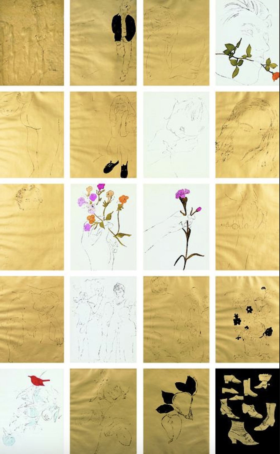 A Gold Book by Andy Warhol