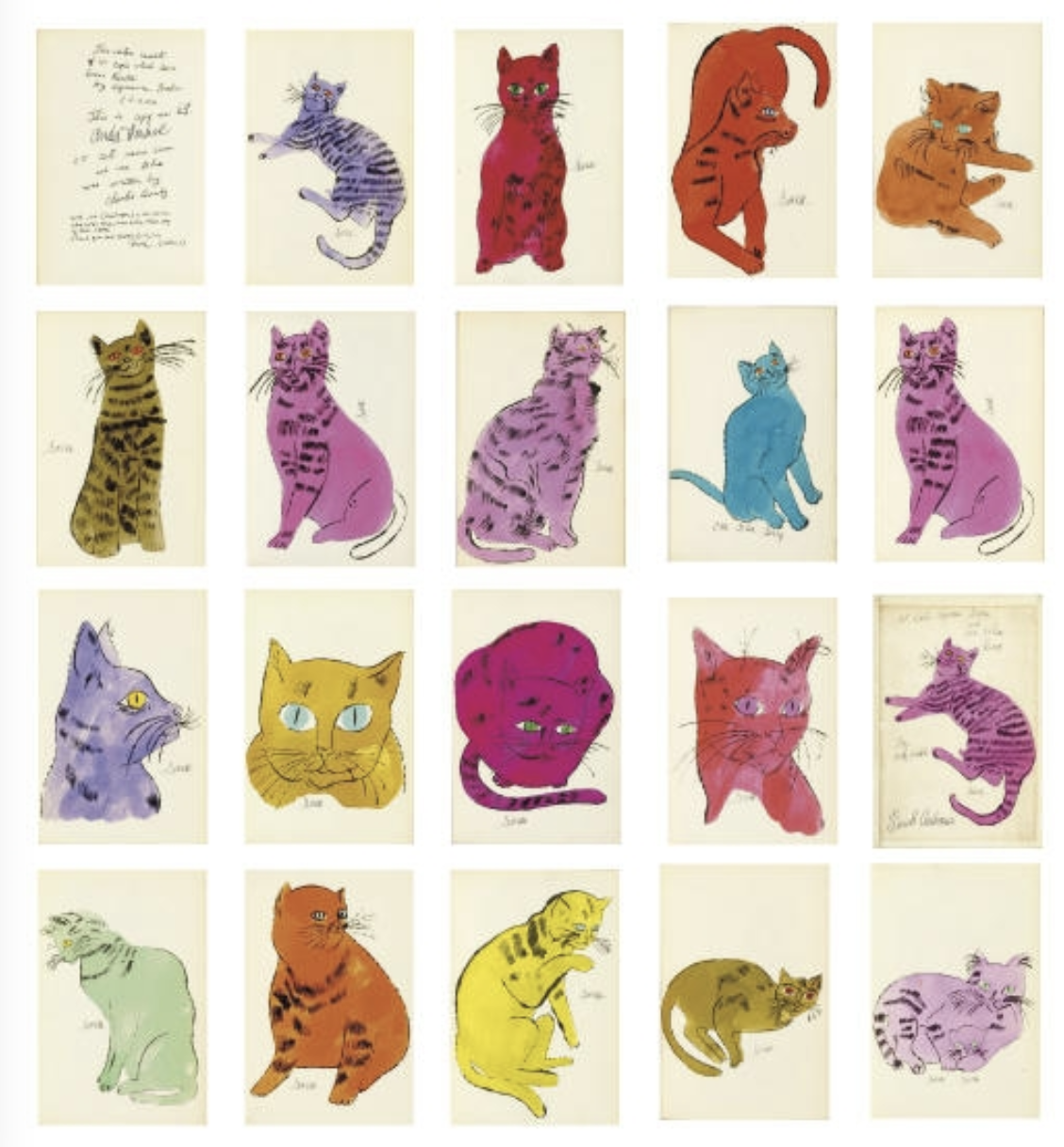 Apartment Blue Book: Andy Warhol 25 Cats Named Sam By Andy Warhol Prints
