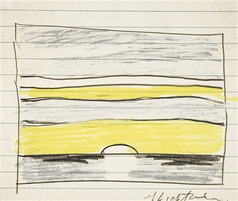 Landscape Yellow Sunset by Roy Lichtenstein