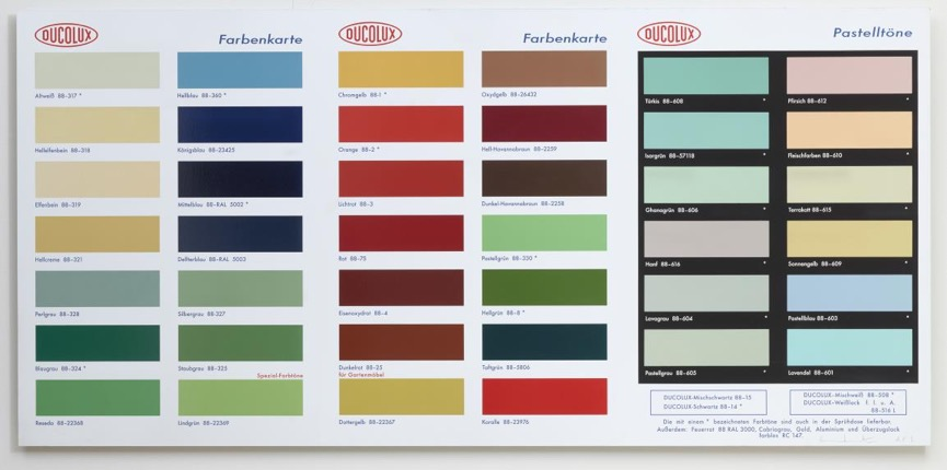 Damien Hirst Colour Chart H2