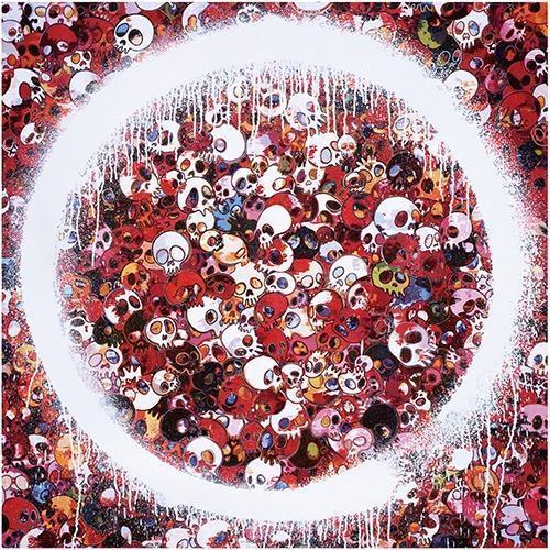Enso Memento Mori Red by Takashi Murakami