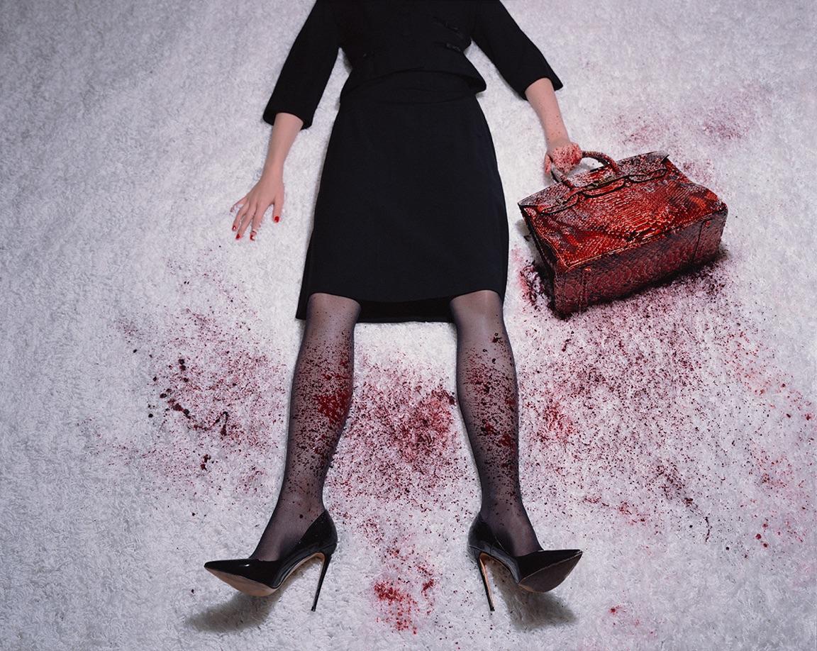 Bloody Birkin by Tyler Shields