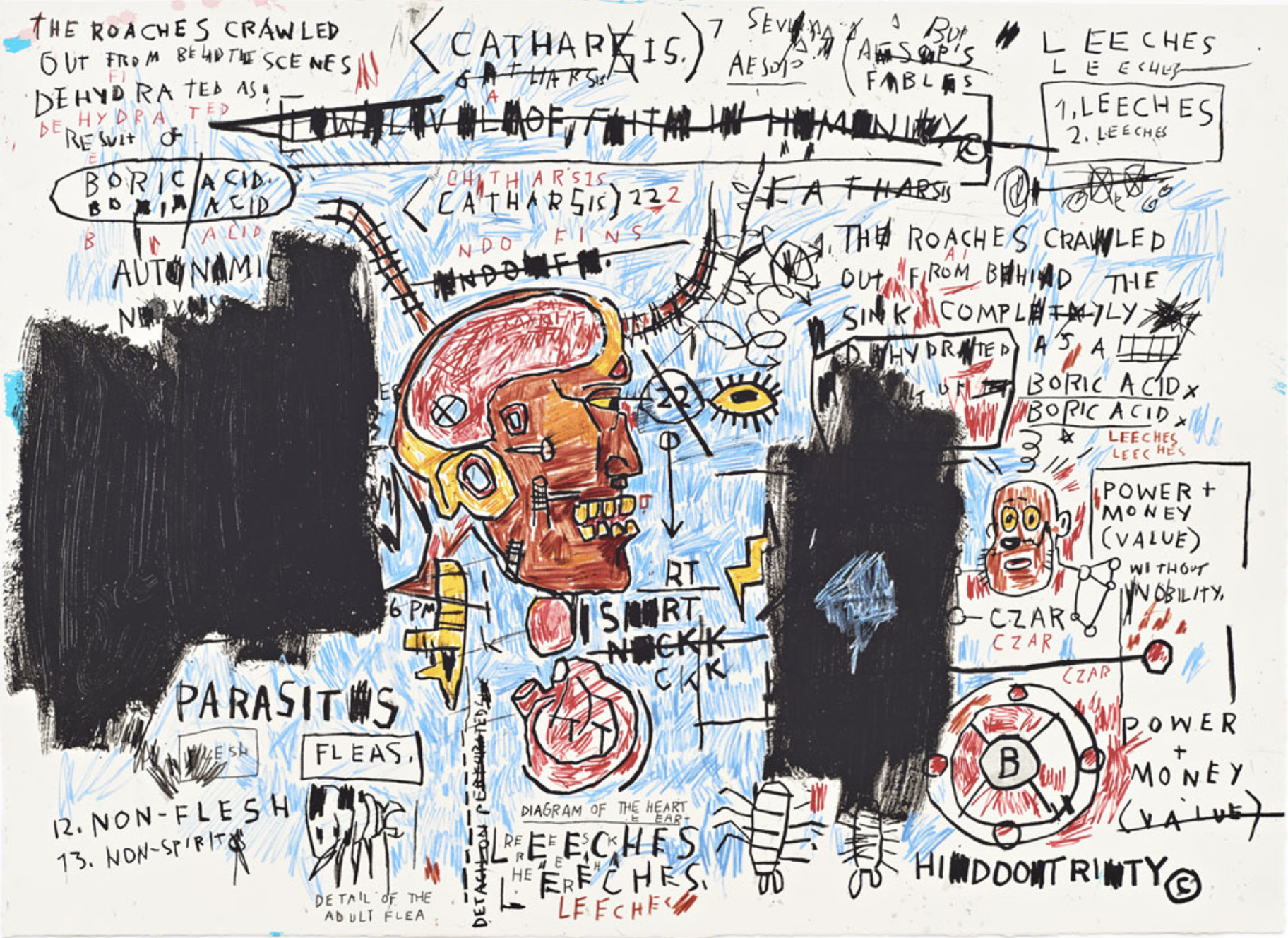 Leeches by Basquiat