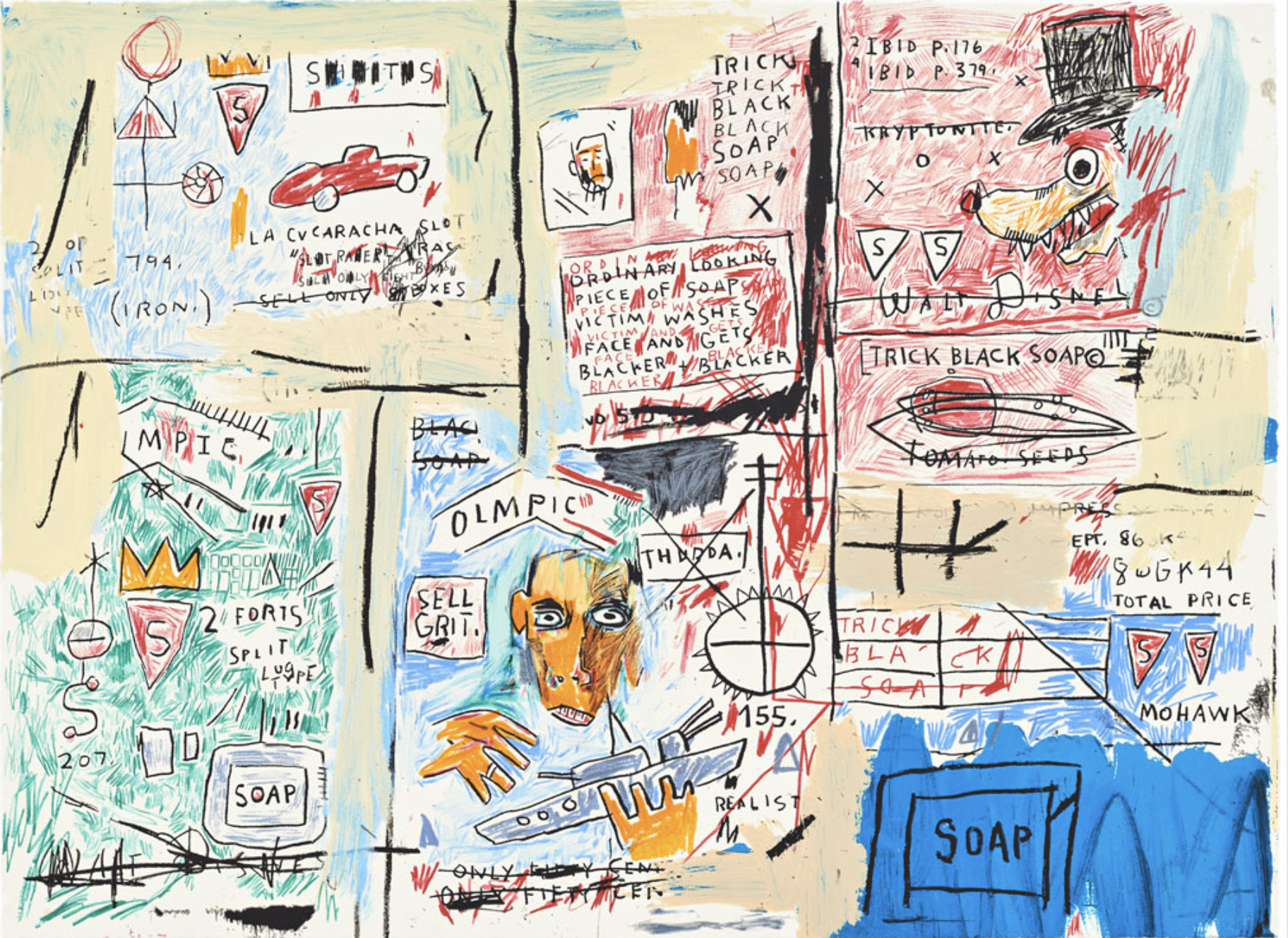 Olympic by Jean-Michel Basquiat