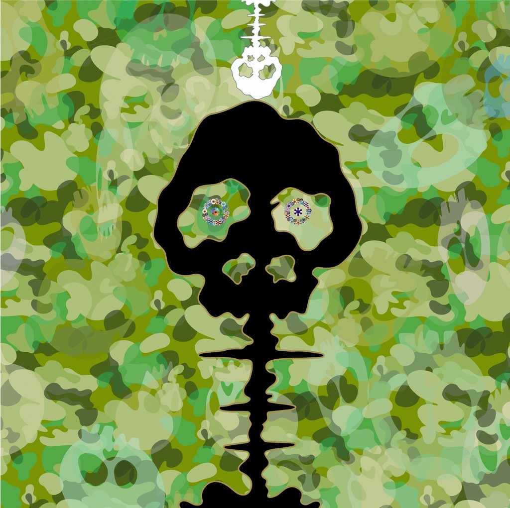 Takashi Murakami Time – Camouflage Moss Green