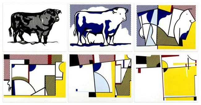 bull-profile-series-roy-lichtenstein