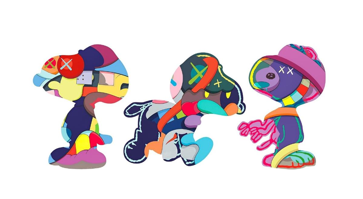Snoopy Set of 3 by KAWS ,