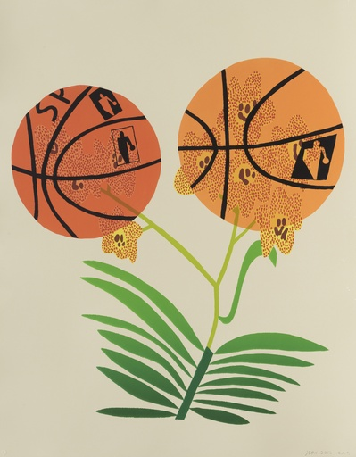 Double Basketball Orchid (State I) By Jonas Wood